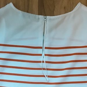 LOFT Tops - LOFT petite coral striped sleeveless shell